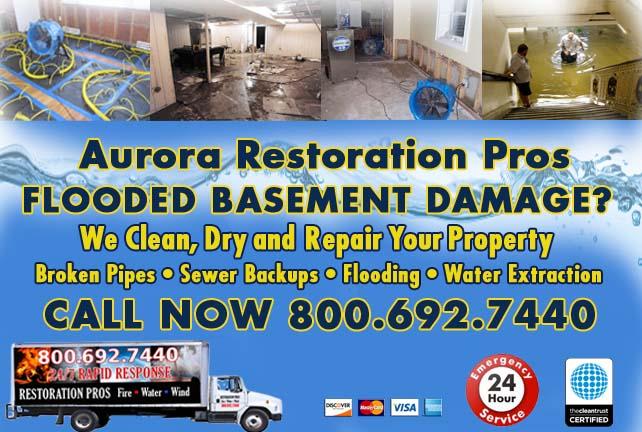 Aurora flooded basement cleanup