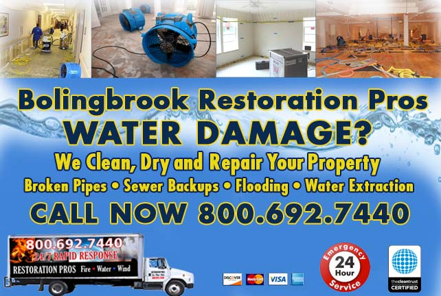 Bolingbrook water damage restoration