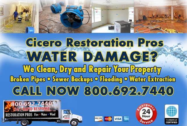 Cicero water damage restoration