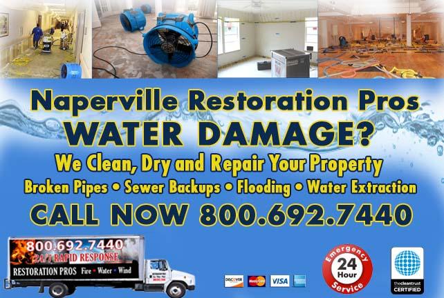 Naperville water damage restoration