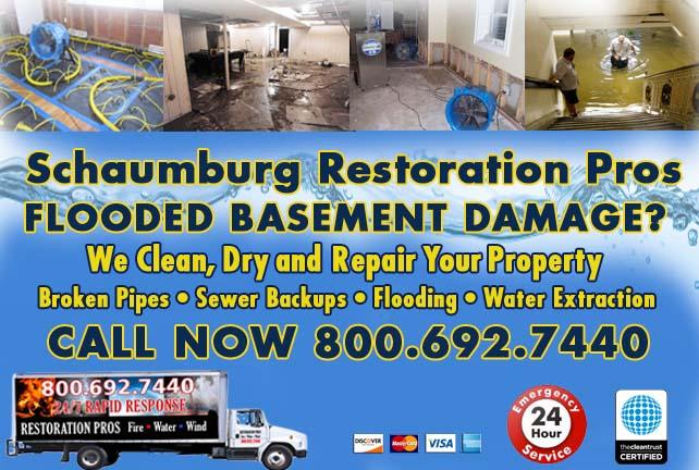 Schaumburg flooded basement cleanup