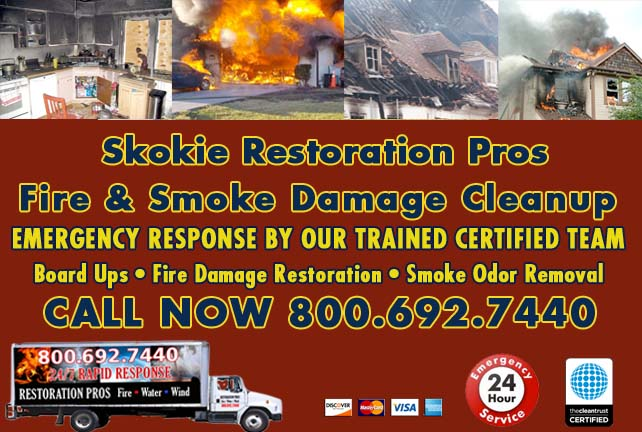 Skokie fire damage repair